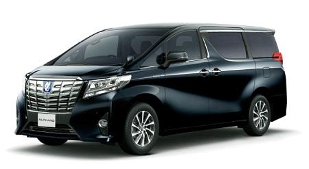 都知事の公用車として有名になった黒塗りのトヨタアルファード(トヨタのサイトより)