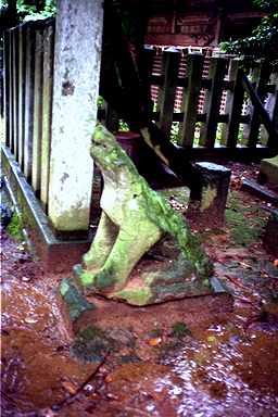 三國神社の狛犬 (1990年撮影)