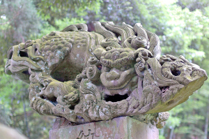 鹿島神社の「飛翔獅子」(吽像)