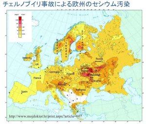 チェルノブイリ事故の重度汚染地域は北欧三国やオーストリアにまで及んだ