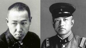 宮沢賢治(左)と石原完爾(右) Wikiより